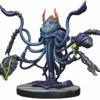 Futuristic tentacled creature - Organic Data Storage Unit X-02-A for Star Saga from Mantic Games, 2017 - Miniature figure review
