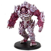 Huge brute with carapace armour in 1/56 scale (Plague Gen 1 Mutant #1 for Warpath) from Mantic Games - Miniature figure review