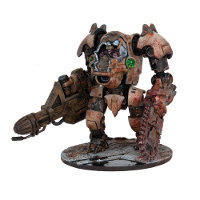 Giant walker with savage driver in 1/56 scale (Plague Strider for Warpath) from Mantic Games - Miniature figure review