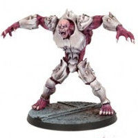 Large brute in 1/56 scale (Plague Gen 2 Mutant #1 for Warpath) from Mantic Games - Miniature figure review