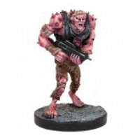 Humanoid with gun in 1/56 scale (Plague Gen 3 Mutant #2 for Warpath) from Mantic Games - Miniature figure review