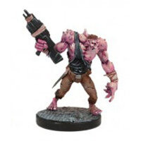 Humanoid with gun in 1/56 scale (Plague Gen 3 Mutant #4 for Warpath) from Mantic Games - Miniature figure review