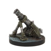 Portable mortar in 1/56 scale (Plague Mortar for Warpath) from Mantic Games - Miniature figure review
