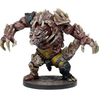 Huge brute with carapace armour in 1/56 scale (Plague Teraton for Warpath) from Mantic Games - Miniature figure review