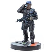 Futuristic human warrior - Security Guard #1 for Star Saga from Mantic Games, 2017 - Miniature figure review