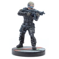 Futuristic human warrior - Security Guard #2 for Star Saga from Mantic Games, 2017 - Miniature figure review