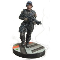 Futuristic human warrior - Security Guard #3 for Star Saga from Mantic Games, 2017 - Miniature figure review