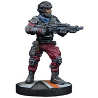 Futuristic human warrior - GCPS Marine #1 for Star Saga from Mantic Games, 2017 - Miniature figure review