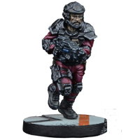 Futuristic human warrior - GCPS Marine #2 for Star Saga from Mantic Games, 2017 - Miniature figure review