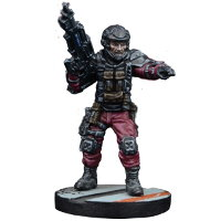 Futuristic human warrior - GCPS Marine #3 for Star Saga from Mantic Games, 2017 - Miniature figure review