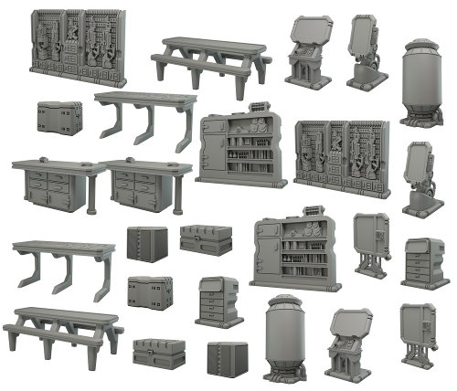 Star Saga scenery set for Star Saga from Mantic Games - Miniature scenery set review