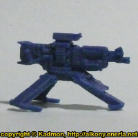 Gun on tripod in 1/56 scale - Sentry Gun for Star Saga from Mantic Games, 2017 - Miniature equipment review