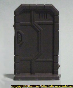 Single Door #1 for Star Saga from Mantic Games, 2017 - Miniature scenery review