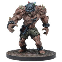 Large brute in 1/56 scale (Plague Gen 2  Subject 901 for Warpath) from Mantic Games - Miniature figure review