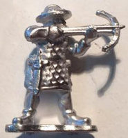 Human warrior with crossbow (Crossbowman for Levy Men) from Menhir Games - Miniature figure