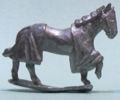 Horse without saddle, in caparison (Horse #2 for Levy Men) from Menhir Games - Miniature Creature