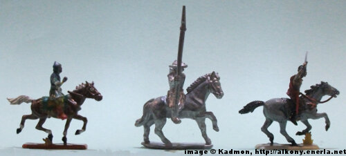 Sergeant (mounted) from Menhir Games - 1:72 (25mm) comparison with Zvezda or Italeri mounter minis.