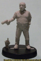 Modern gangster with pistol in 1/56 scale (Big T) from Pigeon Guard Games - Miniature figure