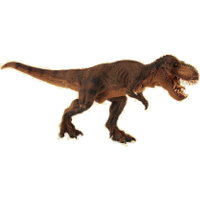 Giant biped carnivore (Brown Running T-Rex for The Dinosaurs) from Papo - Miniature creature review