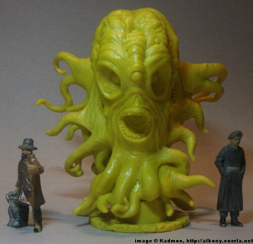 Cthulhu Wars Hastur from Petersen Games - 1:35 (54mm) comparison with 40mm high shepherd and 54mm high soldi