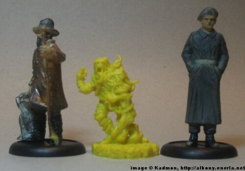 Cthulhu Wars Undead from Petersen Games - 1:35 (54mm) comparison with 40mm high shepherd and 54mm high soldi