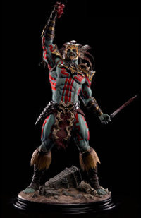Human warrior in 1/4 scale - Kotal Kahn, the Blood God Statue for Mortal Kombat from Pop Culture Shock - Miniature figure review