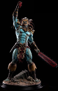 Human warrior in 1/4 scale - Kotal Kahn, the War God Statue for Mortal Kombat from Pop Culture Shock - Miniature figure review