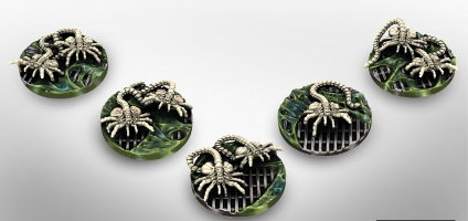 Alien Facehuggers set (for Alien vs Predator: The Hunt Begins) from Prodos Games - Miniature set