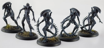 Humanoid alien carnivore (Alien Infant for Alien vs Predator: The Hunt Begins) from Prodos Games - Miniature creature