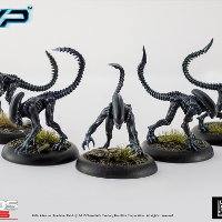 Humanoid alien carnivore (Alien Stalker for Alien vs Predator: The Hunt Begins) from Prodos Games - Miniature creature