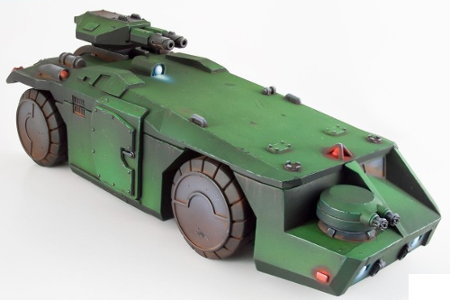 Wheeled military vehicle in 1/50 scale - M577 Armoured Personnel Carrier from Prodos Games, 2017