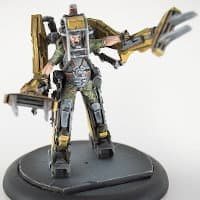 Industrial walker with operator - Marine Powerloader for Alien vs Predator Ed1: The Hunt Begins from Prodos Games, 2015 - Miniature figure & vehicle review