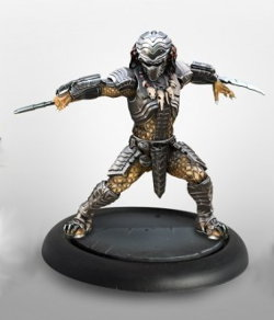 Humanoid alien warrior with wrist blades (Predator Young Blood #2 for Alien vs Predator: The Hunt Begins) from Prodos Games, 2015 - Miniature figure review