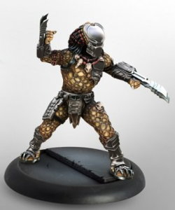 Humanoid alien warrior with wrist blades (Predator Young Blood #3 for Alien vs Predator: The Hunt Begins) from Prodos Games, 2015 - Miniature figure review
