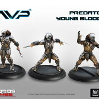 Humanoid alien warrior with wrist blades (Predator Young Blood #2 for Alien vs Predator: The Hunt Begins) from Prodos Games - Miniature figure