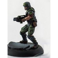 Futuristic soldier (USCM Marine #1 for Alien vs Predator: The Hunt Begins) from Prodos Games - Miniature figure