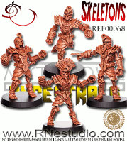 Skeletons set for the Ancestrals team of Fantasy Football from RN Estudio - Miniature set review
