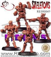 Skeletons set for the Eternals team of Fantasy Football from RN Estudio - Miniature set review