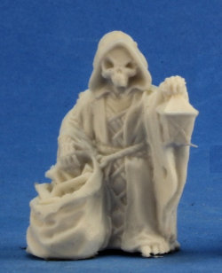 Humanoid skeleton with sack and lantern (Mr Bones (With Lantern)) from Reaper Miniatures - Miniature figure review