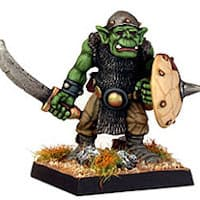 Humanoid warrior with sword in 1/56 scale - Orc Sword #1 from Renegade Miniatures - Miniature figure review