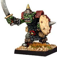 Humanoid warrior with sword in 1/56 scale - Orc Sword #3 from Renegade Miniatures - Miniature figure review