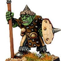 Humanoid warrior with spear in 1/56 scale - Orc with Spear #1 from Renegade Miniatures - Miniature figure review