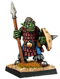Humanoid warrior with spear in 1/56 scale - Orc with Spear #2 from Renegade Miniatures - Miniature figure review