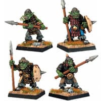 Orcs Spears (4) set in 1/56 scale from Renegade Miniatures - Miniature set review