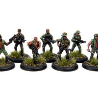 Dogs of War set (from the Predator movie) from Rogue Miniatures - Miniature set