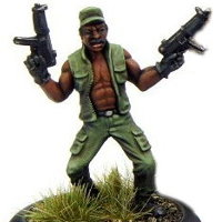 Modern soldier with sub-machine guns (Dogs of War #1) from Rogue Miniatures - Miniature figure