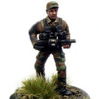 Modern soldier with grenade launcher - Dogs of War #2 from Rogue Miniatures