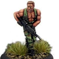 Modern soldier with automatic rifle - Dogs of War #3 from Rogue Miniatures