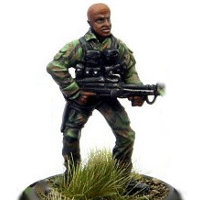 Modern soldier with machine gun - Dogs of War #4 from Rogue Miniatures