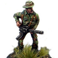 Modern soldier with rotary cannon - Dogs of War #5 from Rogue Miniatures